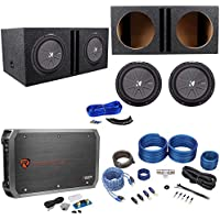 2 Kicker 43CWR124 COMPR12 2000W 12 Subwoofers+Vented Box+Mono Amplifier+Amp Kit