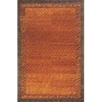 Momeni Rugs DEGABDG-01PAP2030 Desert Gabbeh Collection, 100% Wool Hand Knotted Contemporary Area Rug, 2 x 3, Paprika