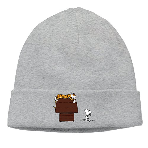 [OPUY Unisex Calvin And Hobbes Tiger On Doghouse Beanie Cap Hat Ski Hat Cap Skull Cap Ash] (Hobbes Costumes For Sale)