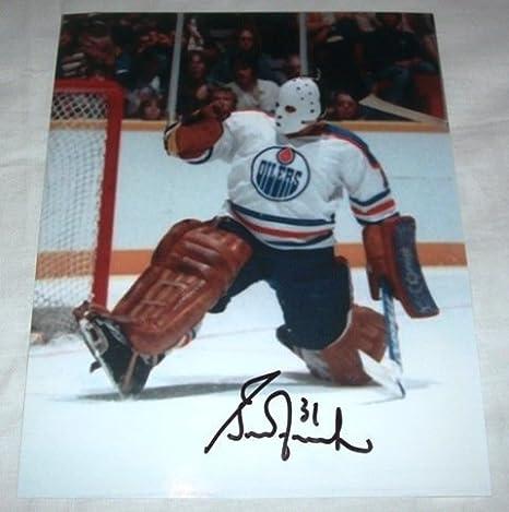 Grant Fuhr Autographed Edmonton Oilers 8x10 Photo Wproof
