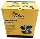 VODA 4-Blade Heat Powered Stove Fan for Wood/Log