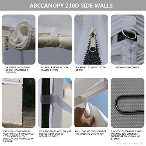 ABCCANOPY X Ez Pop Canopy Tent Commercial with 9 Removable Sides and 6x