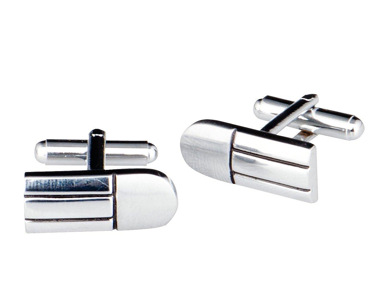Lodestar Silver Milky Way Boutons de manchette et pince /à cravate ACB-13