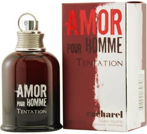 AMOR POUR HOMME TENTATION by Cacharel EDT SPRAY 1.3 OZ for MEN ---(Package Of 6)