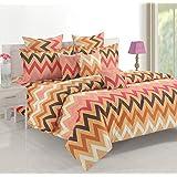 Swayam Queen Size, Cotton,Graphic Pattern, Multi Color - Bedding Sets