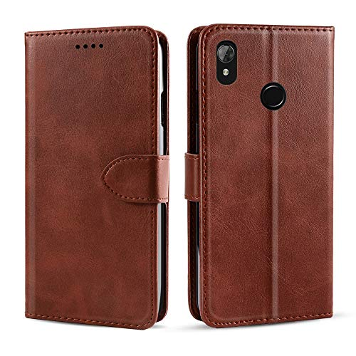for Hisense Harry Case,Yuqoka Premium Leather Case Folio Flip Cover with Kickstand & Card Slot Magnetic Closure Protective Slim Cover Compatible with Hisense Harry Brown