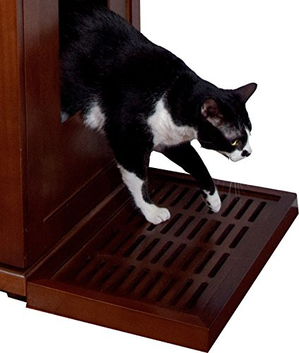 The Refined Feline Catch for the Refined Litter Box, Mahogany
