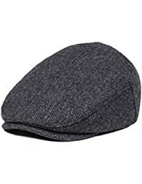 Kids Wool Tweed Flat Cap Herringbone Boy Girl Newsboy...