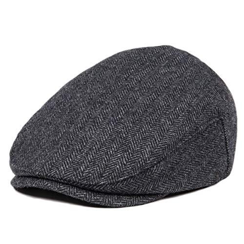 - JANGOUL Kids Wool Tweed Flat Cap Herringbone Boy Girl Newsboy Caps Infant Toddler Child Youth Beret Hat Ivy Gatsby Cap (56cm, Style 6)