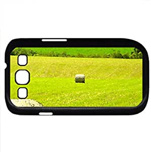 beautiful fields of bales of hay in austria (Fields Series) Watercolor style - Case Cover For Samsung Galaxy S3 i9300 (Black)