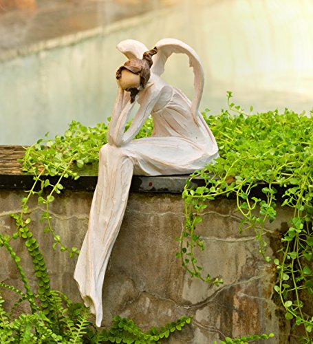 Wind-and-Weather-Thinking-Angel-Garden-Statue