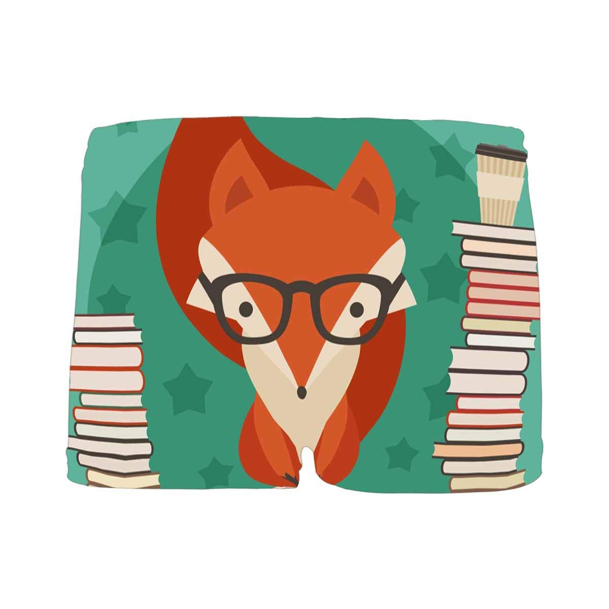 INTERESTPRINT Kids Fox with Books ComfortSoft Printed Boxer Briefs 5T-2XL