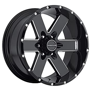 "Hostile Moab Satin Black Wheel with Milled Finish (17x9""/6x139.7mm)"