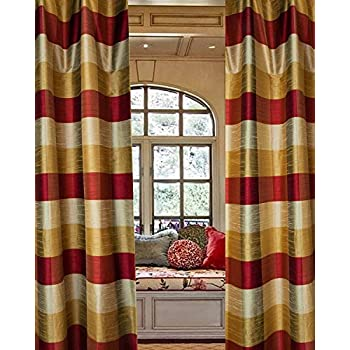 drapery faux curtain panels silk premium curtains custom