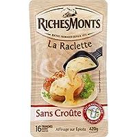 RICHES MONTS Fromage Raclette Tranchets sans Croute 420 g