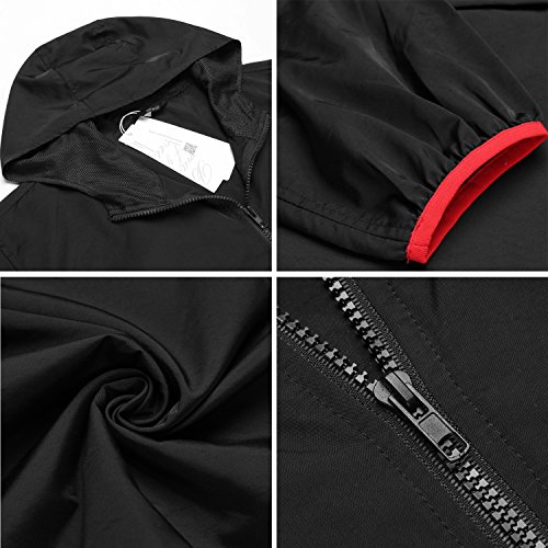 d278836a0f4c JINIDU Unisex Lightweight Packable Hooded Running Cycling Rain Jacket  Outdoor Raincoat Waterproof