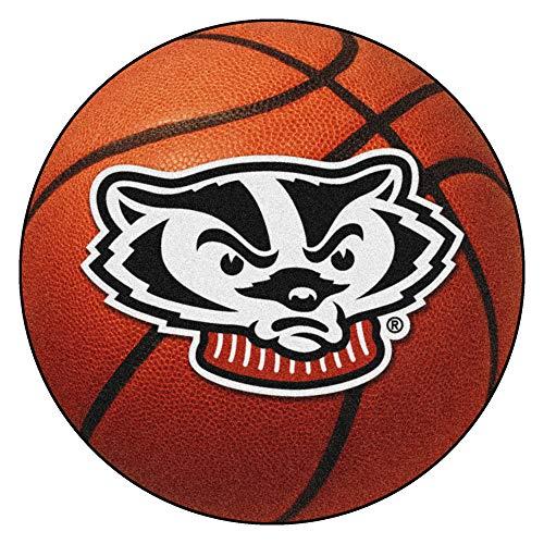 - FANMATS NCAA University of Wisconsin Badgers Nylon Face Basketball Rug