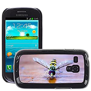 GoGoMobile Slim Protector Hard Shell Cover Case // M00118605 Hoverfly Insect Nature Macro Close // Samsung Galaxy S3 MINI i8190