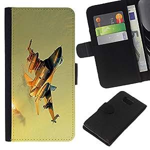 KLONGSHOP // Tirón de la caja Cartera de cuero con ranuras para tarjetas - Combatiente moderno - Samsung ALPHA G850 //