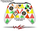 Triangles Citrus - Decal Style Skin Set fits XBOX One S Console and 2 Controllers (XBOX SYSTEM SOLD SEPARATELY)
