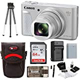 Canon Powershot SX730 Digital Camera (Silver) + 64GB Kit + Battery + Bundle