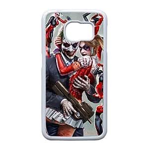 Harley Quinn y Joker U7Y37E7VQ funda Samsung Galaxy S6 caso funda 2M3XBK blanco