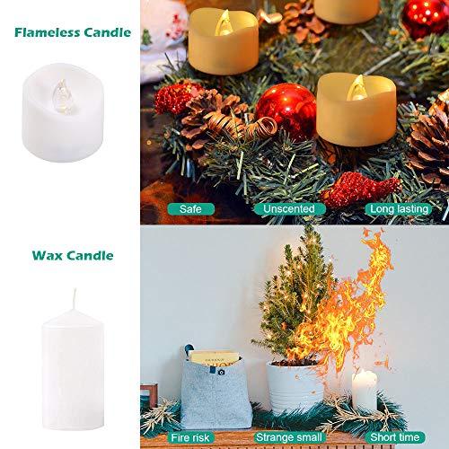 12 Velas Led Pequeñas, flintronic ® Velas Led de Té Velas Eléctricas con Baterías para San Valentín, Cumpleaños, Fiestas, Navidad, Festivales, ...