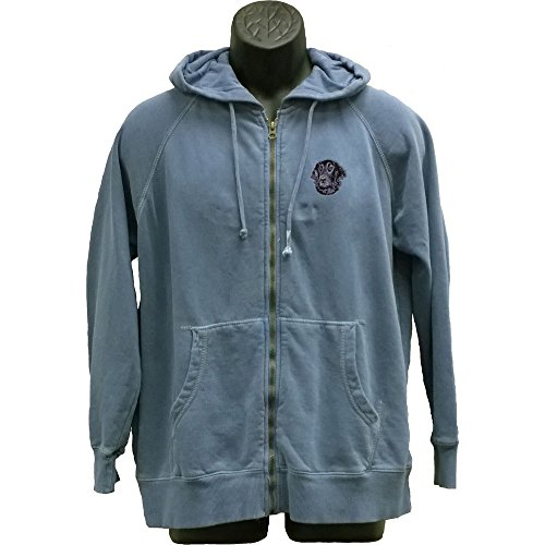 Cherrybrook Dog Breed Embroidered Mens Hoodies - X-Large - Blue Jean - Flat Coated (Retriever Embroidered Sweatshirt)