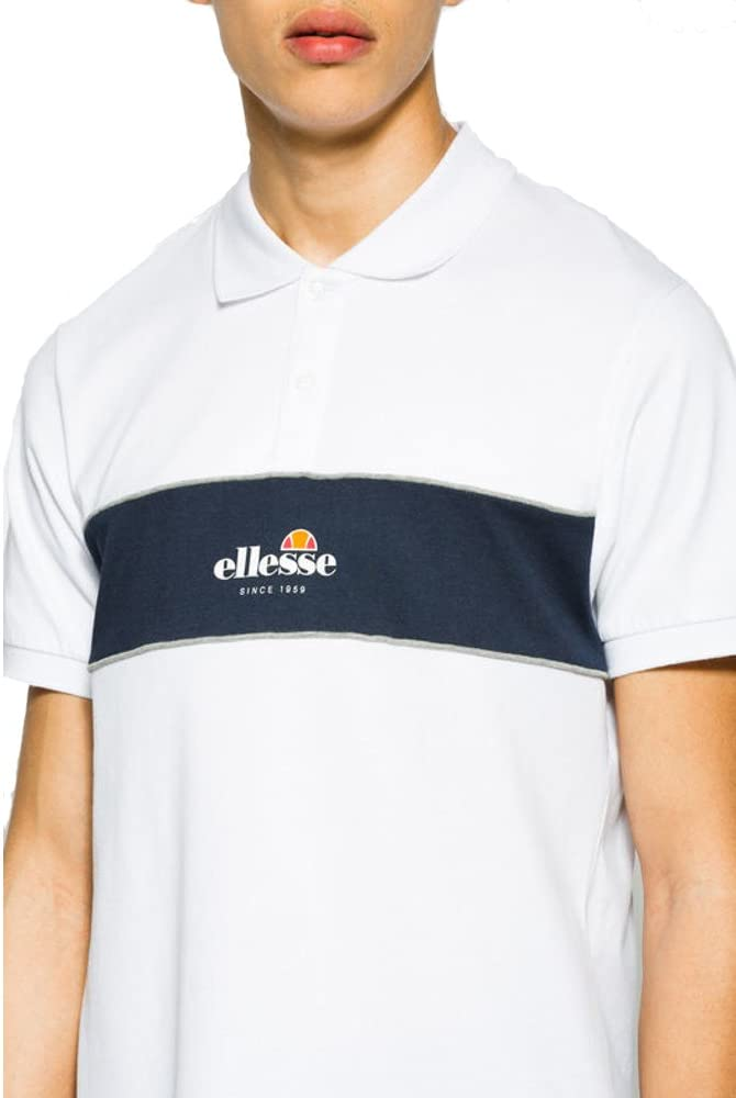 Ellesse - Polo - para Hombre Blanco Blanco Large: Amazon.es: Ropa ...