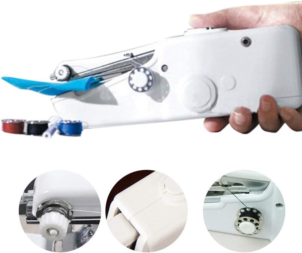 Aiohdg Máquina de coser pesada – Free Motion Máquina de coser y pinchar para bordar, Mini máquina de coser eléctrica Professional Fashion Mate