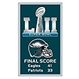 ReddingtonFlags Philadelphia Eagles Super Bowl LII Champions Score Banner