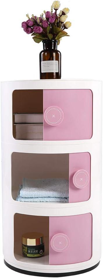 comodino Mobile portaoggetti con 3 ante blu Verde colore: rosa rotondo GOTOTOP bianco verde