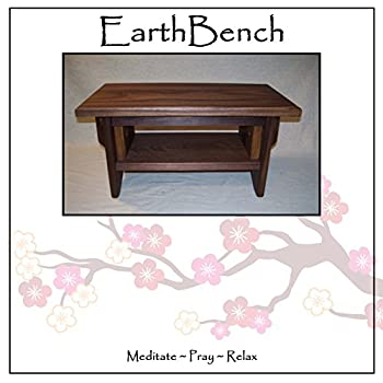 Deluxe Personal Altar with Shelf - EarthBench - Solid WALNUT Construction for Meditation, Prayer, or Contemplative Studies.