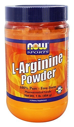 Now Foods, L-Arginine Powder, 1lb (454g), 98 Servings by Now Foods