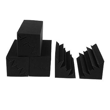 SM SunniMix 8 Piezas Paneles de Espuma Acústica a Prueba de Sonido de Color Negro para Principiantes Producción Instrumentos Musicales: Amazon.es: ...