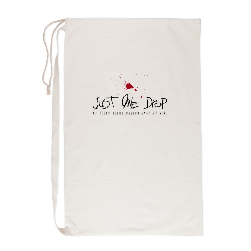 Laundry Bag Just One Drop of Jesus Blood
