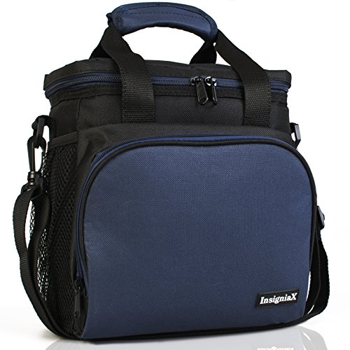 Insulated Lunch Bag S1: Stylish Lunch Box Office Work Men Women Teens Boys Girls Adjustable Strap Handle Front and 2 Side Pockets SIze H: 10