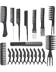 Sunydog Zestaw 20 farb do włosów z spinkami do włosów, do salonu fryzjerskiego, do domu i salonu fryzjerskiego