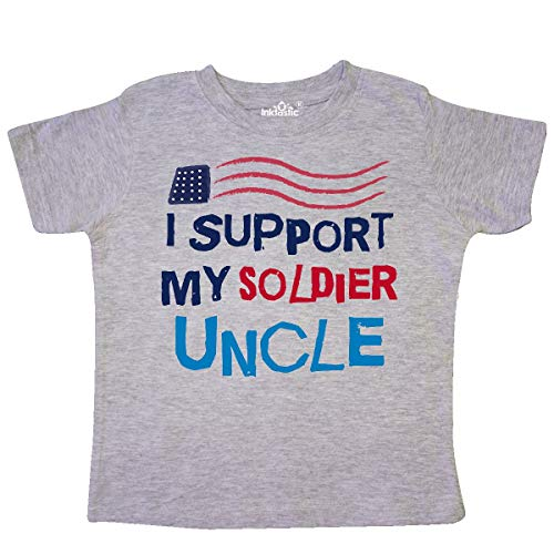 Soldier Uncle Support - inktastic Soldier Uncle Support Toddler T-Shirt 5/6 Heather Grey