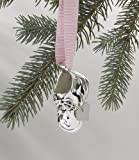 Silver Plated Baby Shoe Ornament New Baby Gift