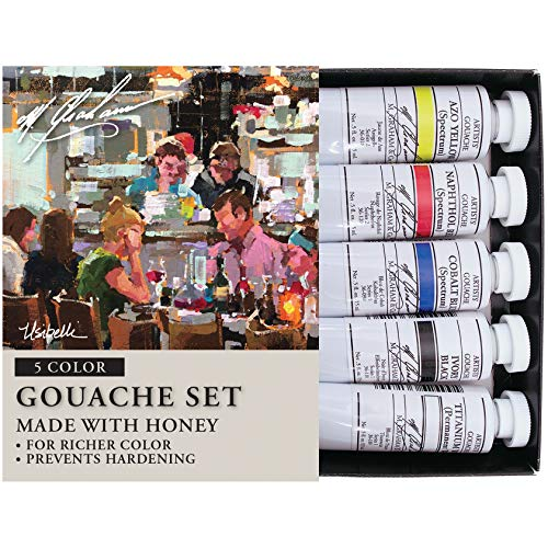 M. Graham 1/2-Ounce Tube 5 Color Gouache Paint Primary -