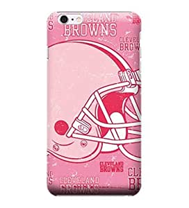 iPhone 6 Plus Case, NFL - Cleveland Browns - Blast Pink - iPhone 6 Plus Case - High Quality PC Case