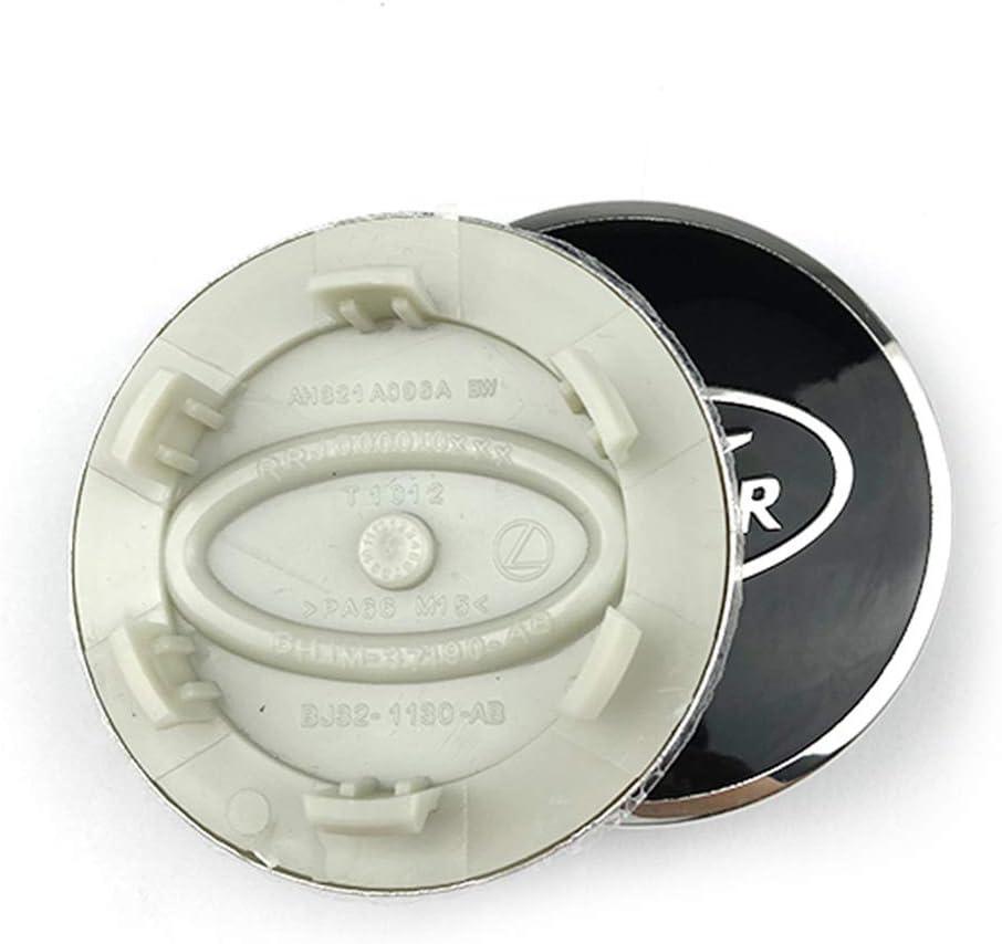 XCBW 4 pi/èces 63mm moyeu Couverture moyeu Capuchon Central Pneu Logo embl/ème pour La-ND Ro-v-ER Voiture modifi/ée,Silver Green