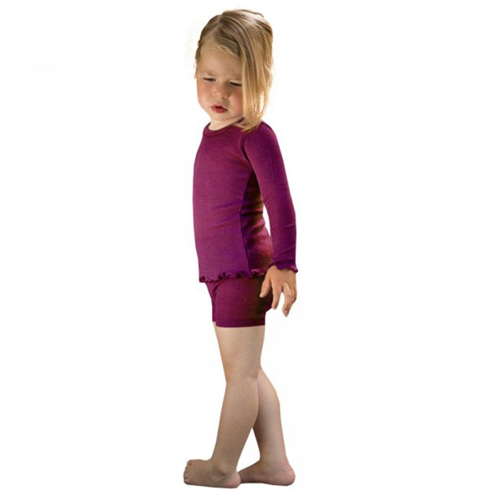 Sizes 2-10 Years Organic Merino Wool Silk EcoAble Apparel Girls Long Sleeve Thermal Shirt Base Layer or Pajama Top