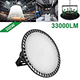 60W Deformable LED Garage Light Ceiling Light Factory Warehouse Industrial Lighting, 6000 Lumen White Light IP65 Waterproof Industrial Warehouse Mining Lamp- LED High Bay Lighting E27 (Cold White)