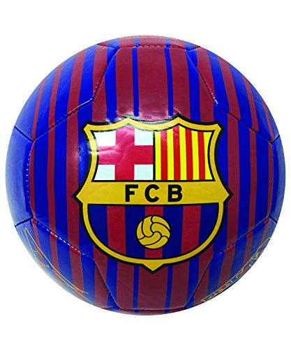 FC Barcelona Soccer Ball, Size #5, #4, and #2, Official Barcelona Soccer Ball With Signatures of the best Players of Barcelona (Messi, Iniesta, Pique, Suarez,) (Size 4)