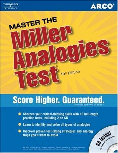 Pdf Test Preparation Master the Miller Analogies Test 2006