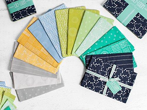 Craftsy Lily & Loom Modern Hand Drawn Landscape Precut Fabric (Half Yard (0.25 Yard Bundle)