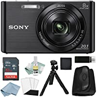 Sony DSC-W830 Digital Camera Black Bundle (32GB)