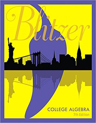 College algebra 7th edition robert f blitzer 9780134469164 college algebra 7th edition 7th edition by robert f blitzer fandeluxe Choice Image